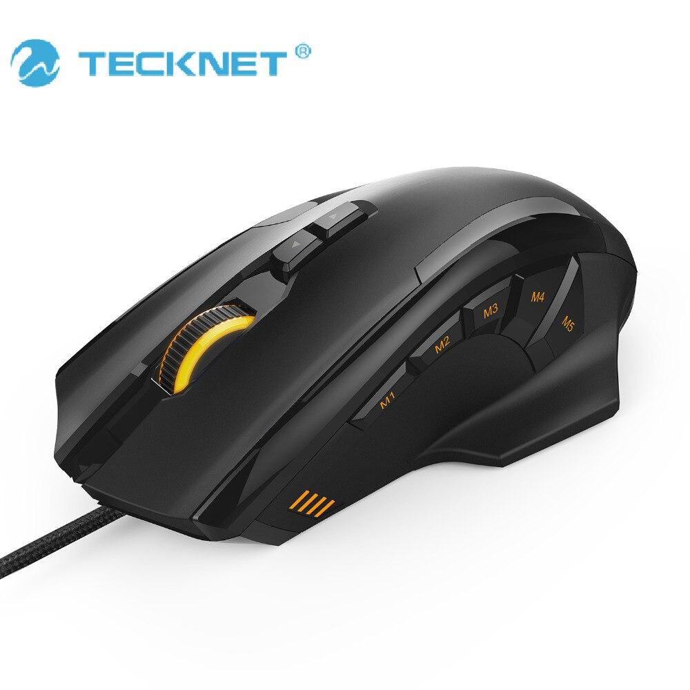 TeckNet 4D Laser Gaming Mouse con 16400 DPI 12 botón Tuning cartucho Micro interruptores para ordenador PC ordenador portátil escritorio LOL juego