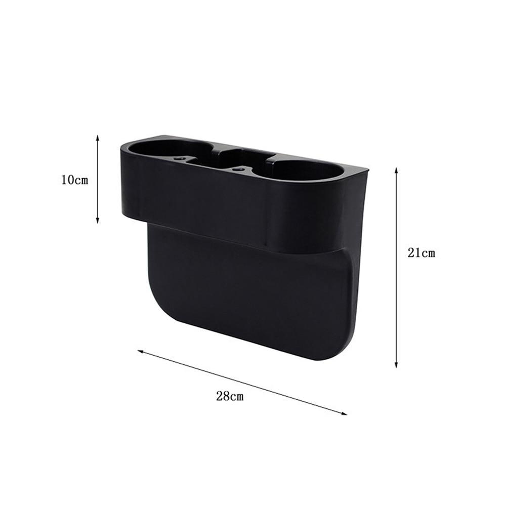 black 2 cup holder drink beverage seat seam wedge car auto truck universal mount [ 1000 x 1000 Pixel ]