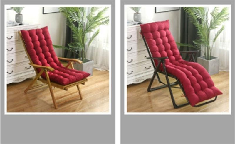 reclinável coxim engrossar dobrável cadeira de balanço