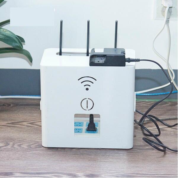 Couvercle rabattable multifonctionnel routeur réception boîte top box prise de courant boîte de réception boîte de rangement 26*16.5*23.6 cm livraison gratuite