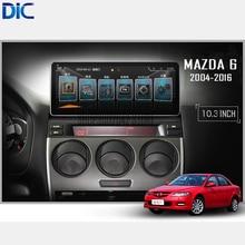DLC android 4.4.4 multifunción sistema de navegación audio del coche GPS sistema de vídeo para mazda 6 2004-2016 4 core 10.3 pulgadas bluetooth
