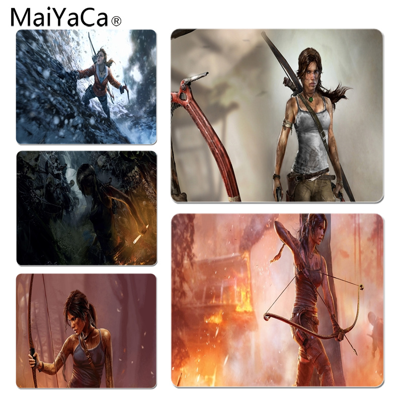 MaiYaCa Tomb Raider 2012 High Speed New Mousepad Size for 25X29cm Gaming Mousepads ...