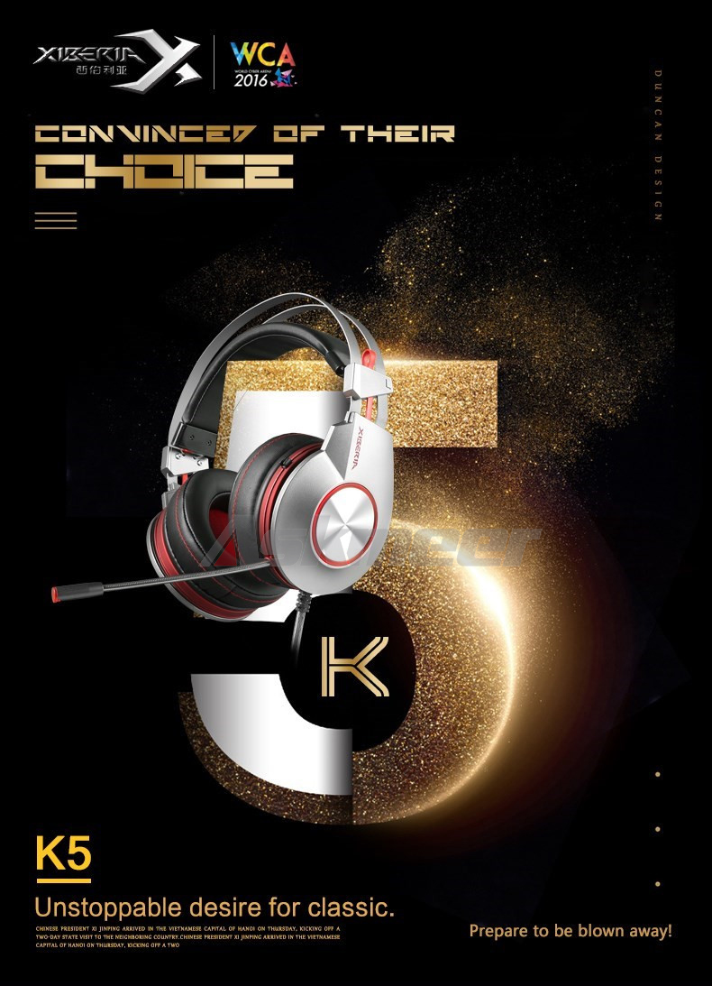 XIBERIA K5 Gaming Headset Gamer Computer Stereo USB Headphones with Surround Sound Flexible Microphone Mic fone de ouvido (1)