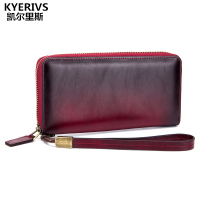 Unisex New Design Fashion Multifunctional Purse For Phone Genuine Leather Wallet Women Long Clutch Bag Cowhide