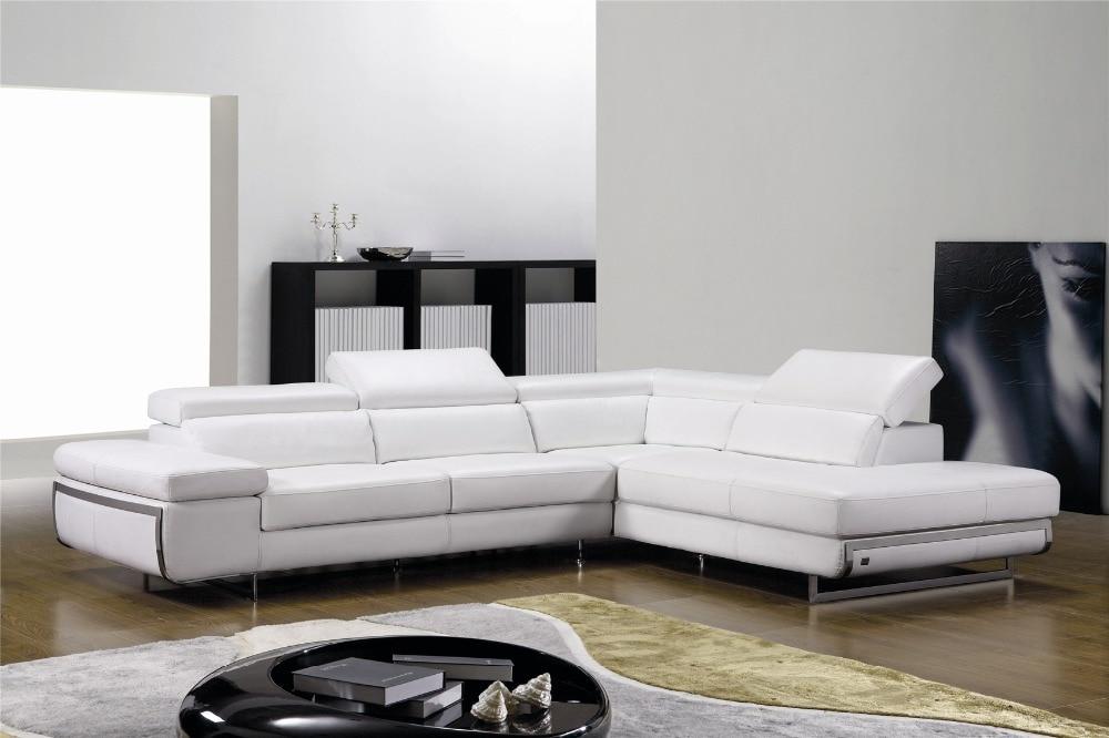 US $1039.0 |Divani per soggiorno con divano ad angolo in pelle per divani  moderni l forma divano scenografie-in Divani da soggiorno da Mobili su ...