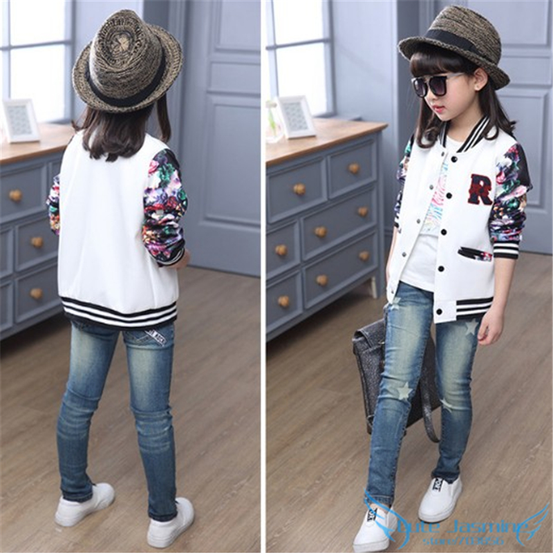 Aliexpress.com : Buy Big Girls Bomber Jacket Coat 2016 Autumn ...