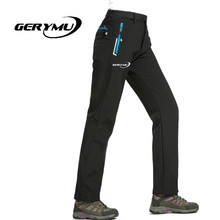 2016 Women Outdoor Pants Waterproof Windproof Soft Shell Hunting Hiking Camping Mountaineering Snowboard Trousers Pants