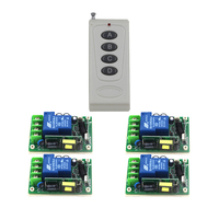 Hot Sale AC 85V 250V 30A High Power Load Electrical Hoist Wireless Remote Control Switch 4 Button Controller SKU: 5486