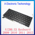 New Laptop Keyboard 2009-2012 For Apple Macbook Pro A1286 Keyboard US Keyboard Replacement