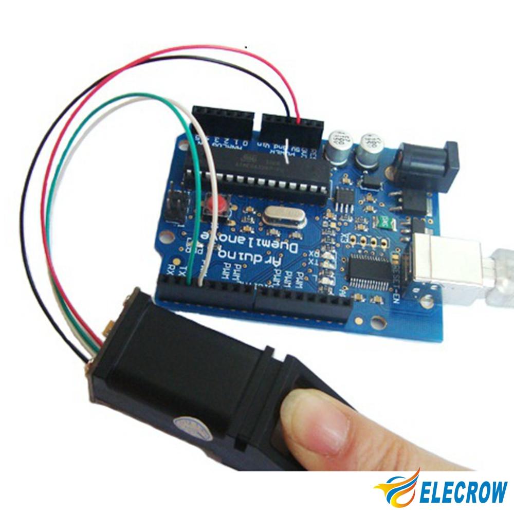 US $28 18 25% OFF|Elecrow Fingerprint Sensor for Arduino Serial Output  Development of Dedicated Identification Module DIY Kit-in Sensors from