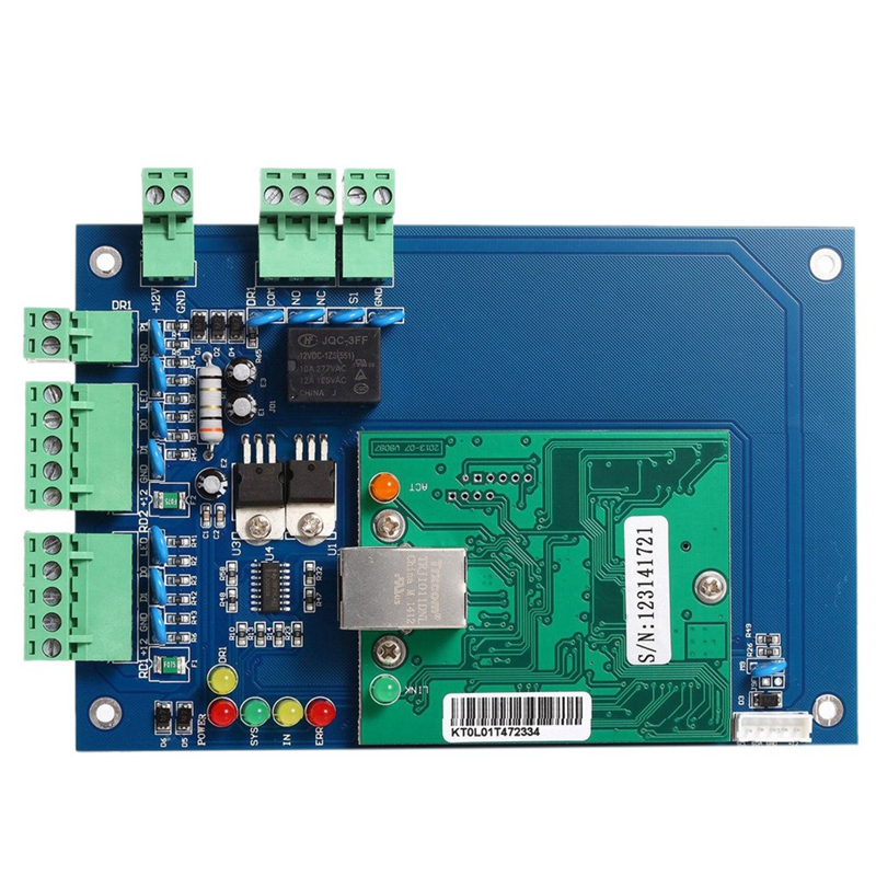 Professional Wiegand 26 Bit Tcp Ip Network Access Control Board With Software For 1 Door 2 Reader