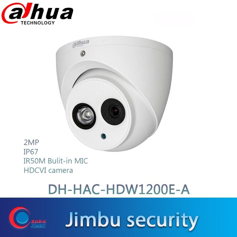 Dahua 2MP Dome HD1080P HDCVI Camera DH HAC HDW1200E A IR 50m built in MIC IP67