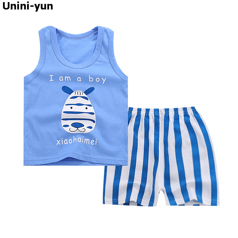 2018 New Summer Casual Children Sets Blue T-shirt+ Pants Girls Clothing Sets Kids Summer Suit For 9m-6Y roupas infantis menina