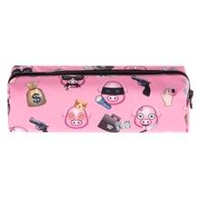 Who Cares Pig gang emoji 3D printing cosmetic bag women makeup bag 2016 pencil case pouch maleta de maquiagem travel necessaire