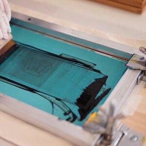 Image 2 - 4 шт. набор трафаретной печати 43/120T алюминиевая рама из шелкографической сетки + зажим для петель + Эмульсия Совок + скребок набор деталей для инструментов
