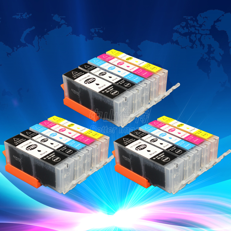 INK WAY On promotion 3 Sets PGI 570 CLI 571 Ink Cartridges for Canon MG5750 MG5751