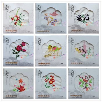 Chinese style Silk Handkerchief Wedding Party Favor Embroidery Eco Hand towel Business Gift 50pcs/lot