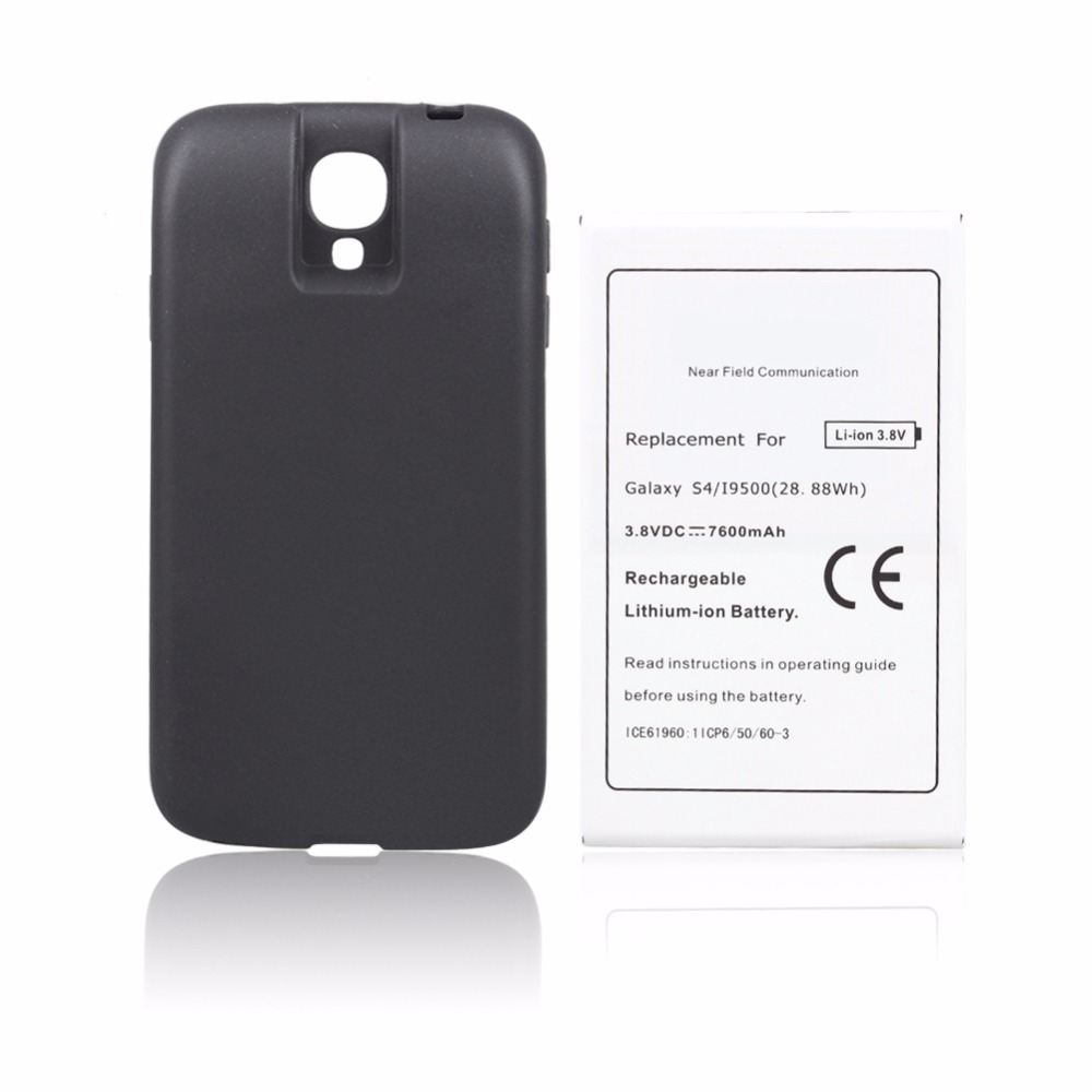 NFC <font><b>Battery</b></font> for Samsung Galaxy <font><b>S4</b></font> i9500 7600mah Replacement Phone Commercial Extend <font><b>Battery</b></font> 100% High Quality with <font><b>Cover</b></font> Back