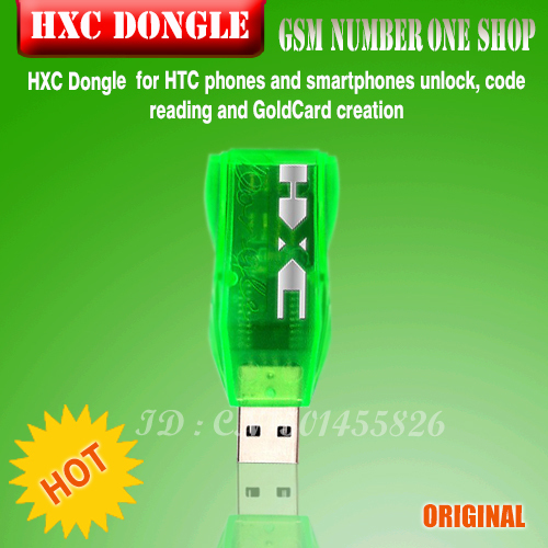 100%original HXC Dongle for HTC phones and smartphones unlock, code reading and GoldCard creation