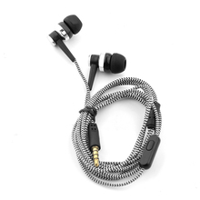 3.5mm In-Ear MP3 MP4 Wiring Subwoofer Headset Ear Braided Rope Wire Cloth Rope Earplug Noise Isolating Earphone