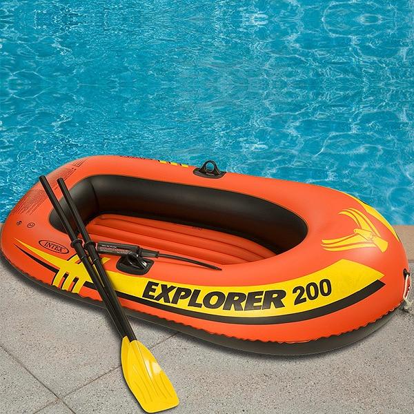 Intex Explorer 200, 2-osobowy zestaw dmuchanych łodzi z wiosłami - Sporty wodne - Zdjęcie 5