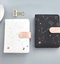 Dilosbu The Zodiac Leather Notebook White Black A6 waterproof cover Note Book Daily Planner Gift Kawaii School Supply notepad