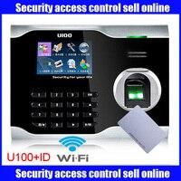 Mutil sprache ZK U100 WIFI biometrische fingerprint zeit teilnahme zeit uhr linux system mit wifi mit ID karte-in Fingerabdruck-Erkennungsgerät aus Sicherheit und Schutz bei