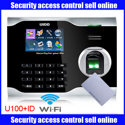 Mutil-language ZK U100 WIFI Biometric Fingerprint Time Attendance Time Clock Linux System With Wifi With ID Card