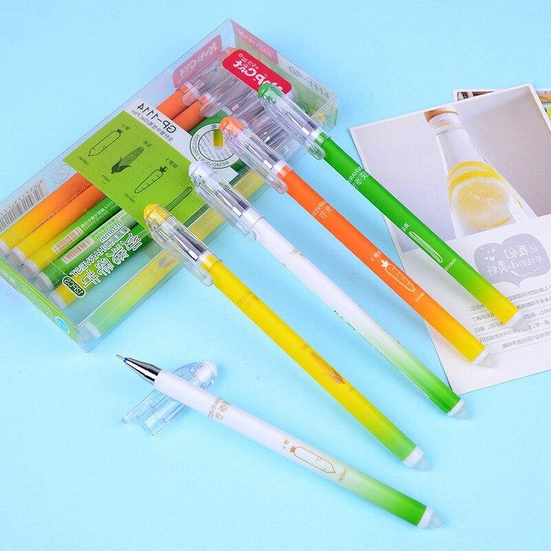 4 Pcs/ Set  Kawaii Erasable Pen Gel Pen 0.38mm Ink Pen School & Office writing Supply Kawai Stationery Gift