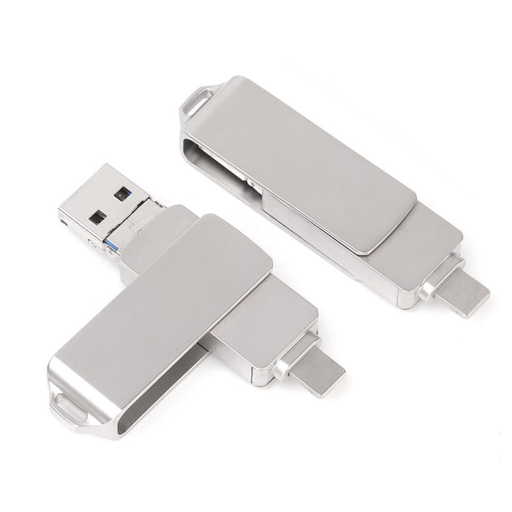 8/16/32/64/128/256G OTG USB Flash Drive U-Disk Memory Stick for iPhone Android Wholesale