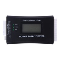 Digital LCD Power Bank Supply Tester Computer 20 24 Pin Check Quick Power Supply Tester Support