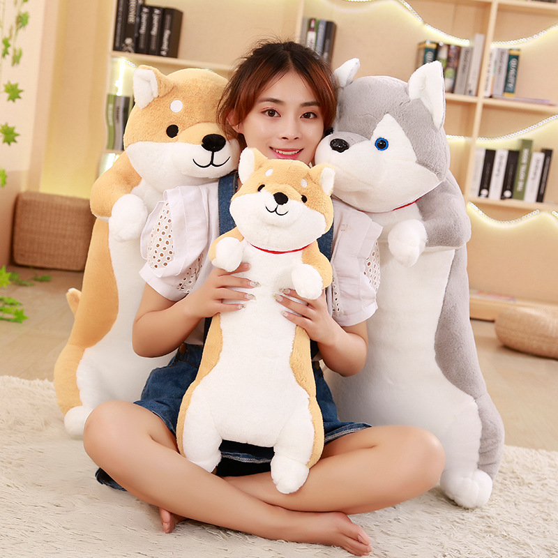 1pc 60cm Cute Plush Husky Toy Shiba Doll Stuffed Soft Cute Animal Doll Lovely Cartoon Dog Plush Toy Kawaii Soft Pillow Kids Gift 2018 baby girl dress summer unicorn costume for kids clothing brand children party dresses cute dog girls clothes princess dress