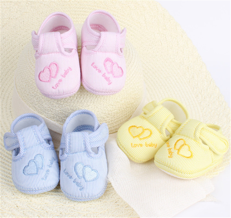 Amazing 0-12 Måned Baby Boy Girls Crib Sko Spædbarn Crib Cotton Baby Sko Blød Sole Gratis Levering (s3-1)