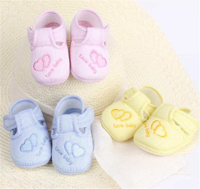 Verbazingwekkende 0-12 maand baby boy meisjes crib schoenen baby crib katoen baby schoenen zachte zool gratis verzending (s3-1)