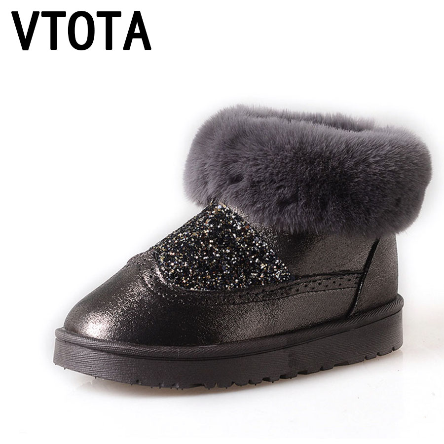 VTOTA Women Winter Boots 2017 Casual Warm Snow Boots New Waterproof Shoes Woman Flat botas mujer Ankle Boots Shoes Woman D35 vtota snow boots women winter boots hot warm fur flat platform shoes women slip on shoes for women botas mujer ankle boots e62