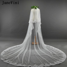 9a292ced0a JaneVini 2018 romántica boda largo velos apliques Edge dos capas Catedral  longitud nupcial Velo con peine Velo Novia 3 metros