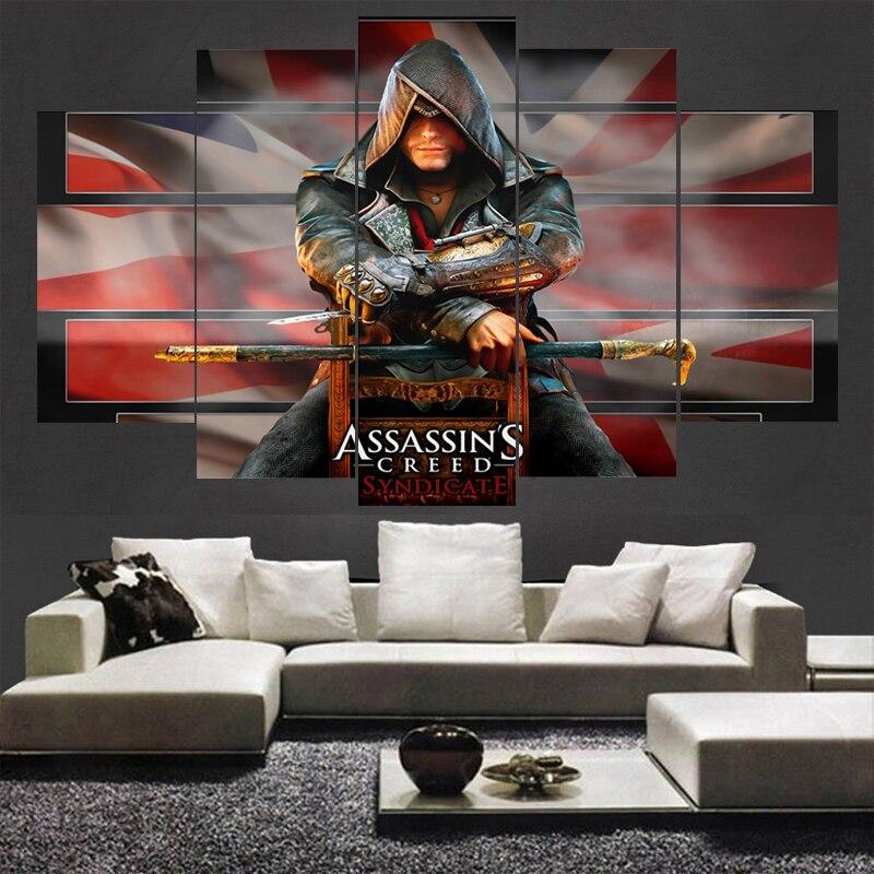 Leinwand Malerei Wohnzimmer Wand 5 Panel Film Assassins Creed ...
