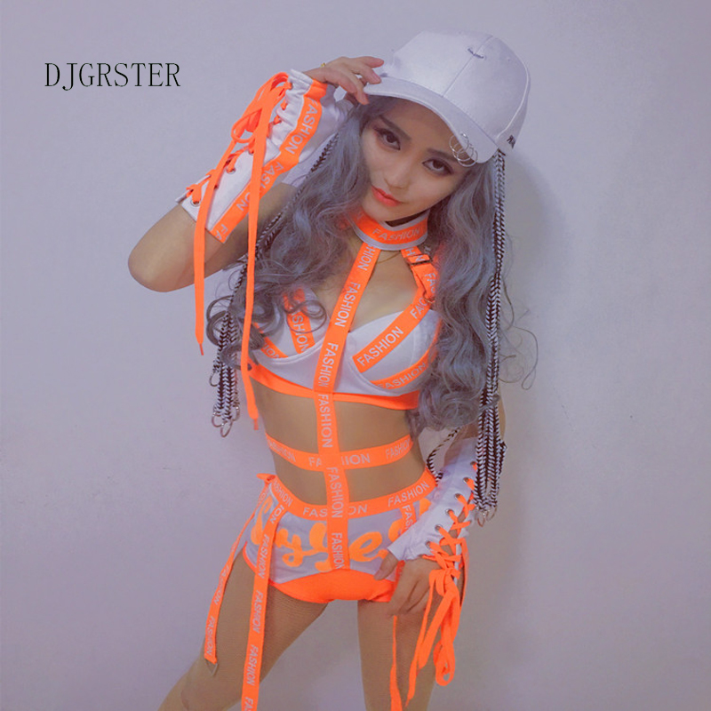 DJGRSTER Women Ladies Fashion Design Dance Bodysuits Hiphop Dance Clothes Dance Costume Jazz Girls Singer Stage Performance Wear