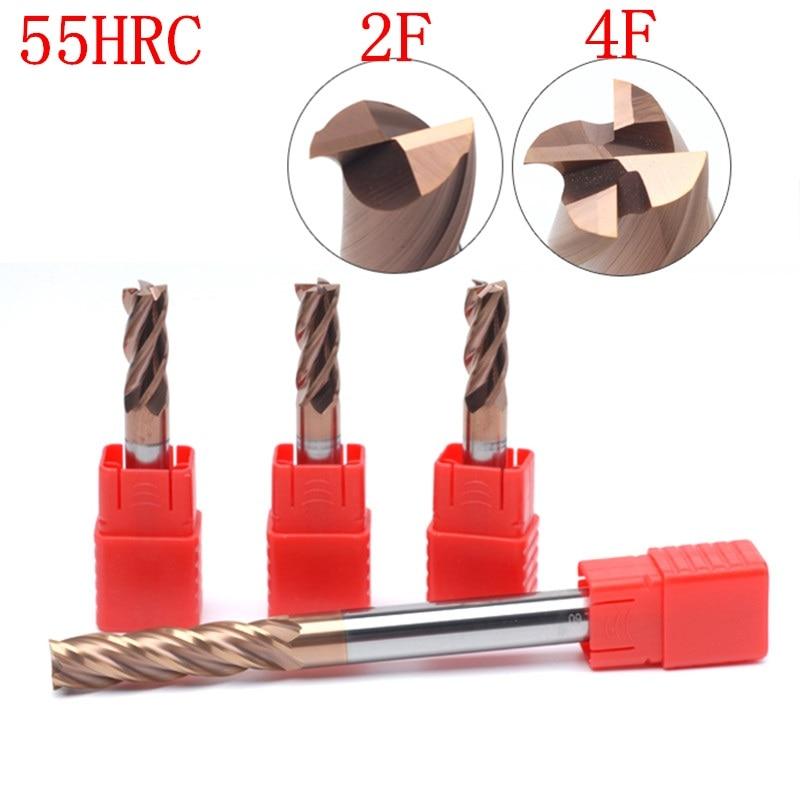 Специальная цена со скидкой HRC55 HRC45 2/4 флейта 4 мм 6 мм 8 мм 10 мм карбидный фрезерный станок с ЧПУ Фрезерный резец из вольфрамовой стали