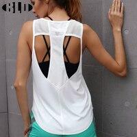 Yoga Top Sport Shirt Women Hollow Back Breathable Fitness Woman Sports Wear Dri Fit Yoga Tank