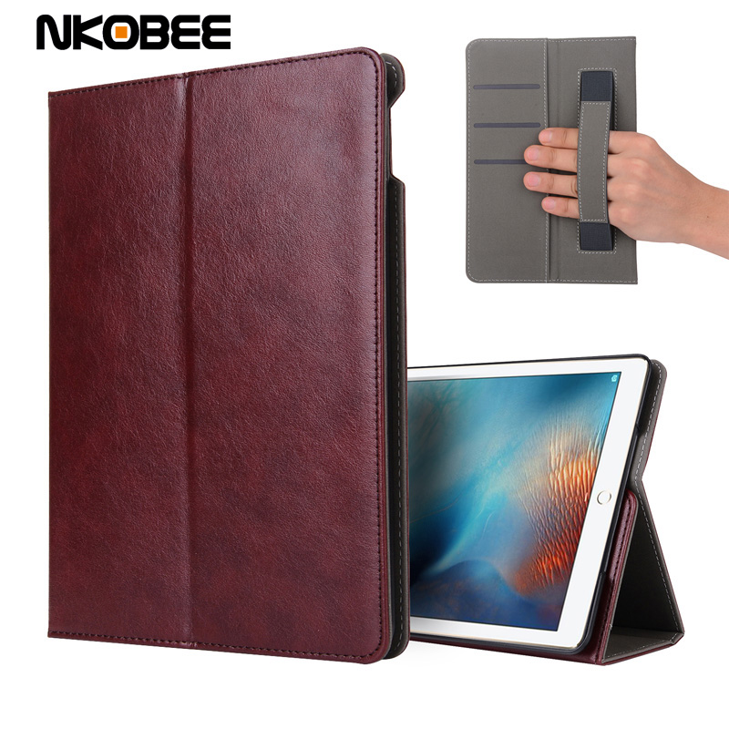 NKOBEE Case for iPad 9.7 2017 New Model PU Leather Cover For New iPad 9.7 2017 Smart Case Wallet For Apple iPAD 9.7 2017 Case for apple ipad air 2 pu leather case luxury silk pattern stand smart cover