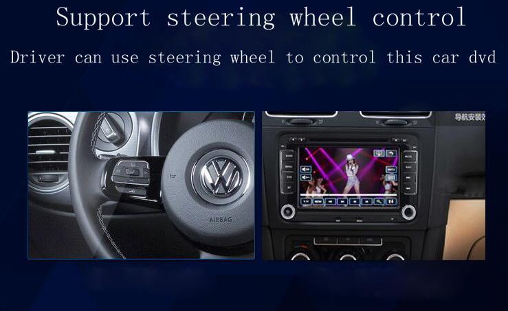 7 2 din Car DVD GPS radio player for Volkswagen VW  golf 5 6 touran passat B6 sharan jetta polo tiguan with free camera
