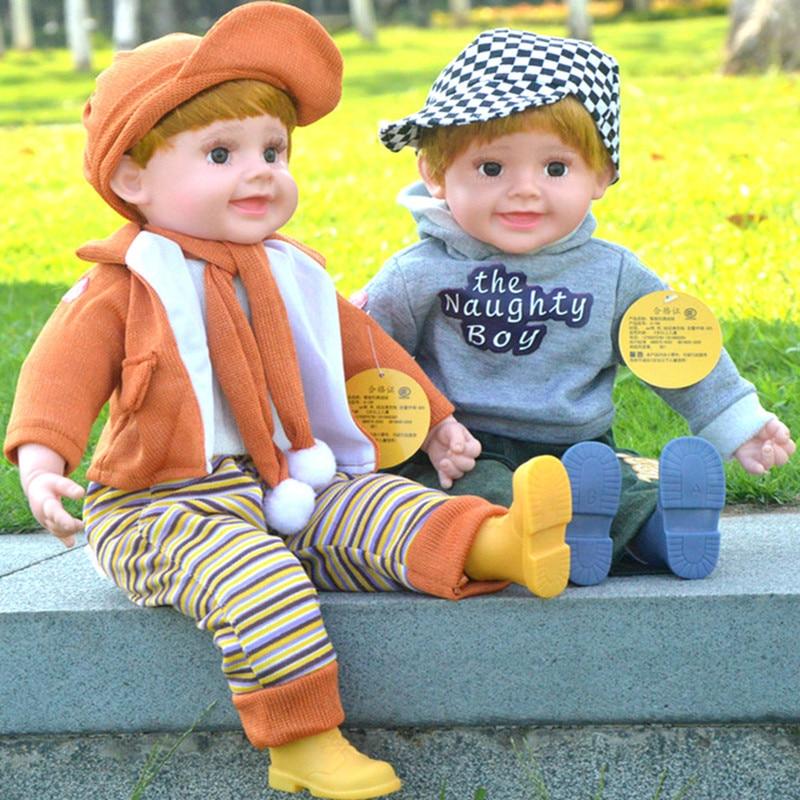 ФОТО 53cm PVC Educational Baby Doll Toy, 20.87inch Simulation Reborn Baby Dolls, Toys For Children , Birthday Gifts
