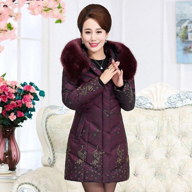 befa38cef5e Winter Jacket Women Large Fur Collar Wadded Padded Coats Jacket Female  Hooded Down Cotton Coat Plus