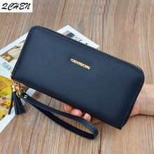 Woman's wallet Long Zipper Luxury Brand Leather Coin Purses Tassel Design Clutch Wallets Female Money Bag Credit Card Holder 559 все цены