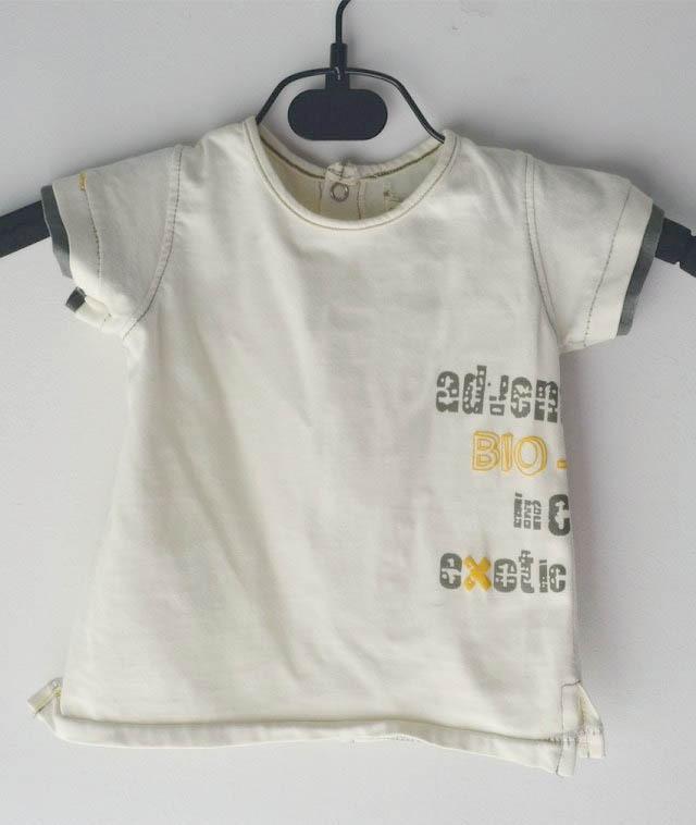Летняя футболка для малышей Высококачественная футболка для мальчиков из хлопка одежда для малышей повседневные топы с короткими рукавами для маленьких мальчиков от 0 до 9 месяцев - Цвет: Бежевый