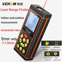 Vchon Высокая точность 40-100 м ручной лазерный дальномер Рулетка лазерной telemetre Гольф дальномер дальномеров для hunti