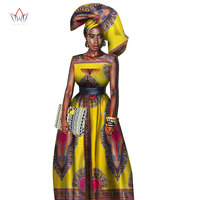 Traditional African Women Clothing African Print Wax Custom Long Dresses for Women Africa Women Clothing Dashiki Dresses WY1871