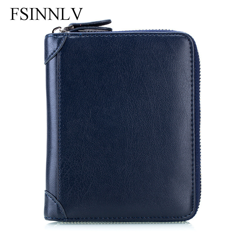 Fsinnlv genuine leather unisex id card holder passport card wallet fsinnlv genuine leather unisex id card holder passport card wallet credit card business card holder protector organizer dc223 in card id holders from colourmoves