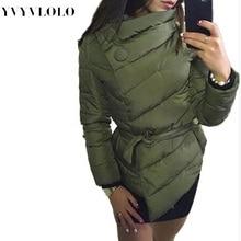 2016 New Winter Jacket Women Duck Down Coat 1950s 60s High Collar With Belt Parkas For Women Winter Warm Outerwear Coats